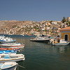 Yialos in Symi harbor in Dodecanese, Greece