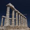 Temple to Poseidon on Cape Sounion in Greece