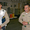 CDR Zamora (XO) and CMDCM Macias welcoming our party aboard the USS Green Bay