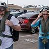 Jake, Deb walking to helicopter