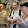 Master Chief, Jake and Jennifer on board the USS Green Bay