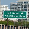 Sign for US Naval Amphibious Base, Coronado, San Diego, CA
