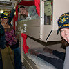 Ladies trying out the racks on board the USS Green Bay