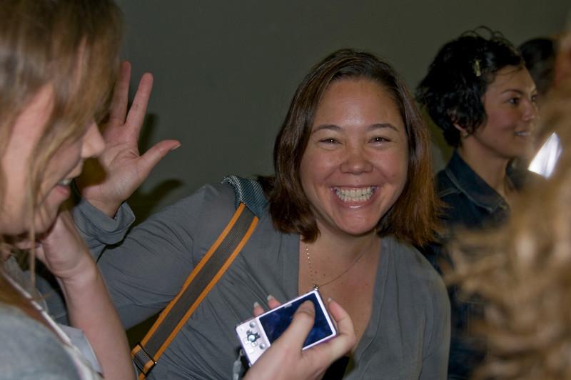 Jen Leo happy to be on board the USS Green Bay