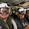 Jake, Jen and Jennifer on the copter