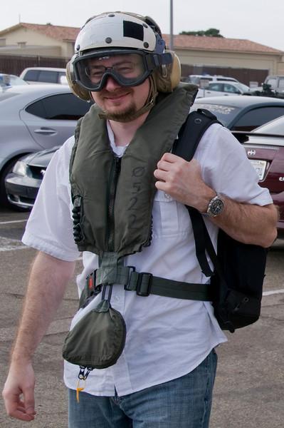 Jake McKee pre-flight