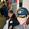 Ladies trying out the racks on board the USS Green Bay, sadly out of focus