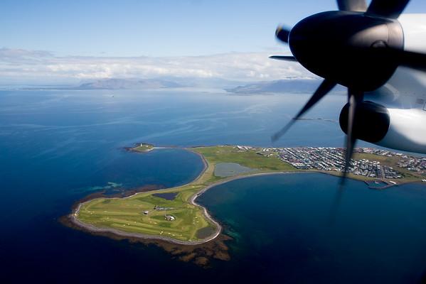Iceland Reykjavik airport takeoff