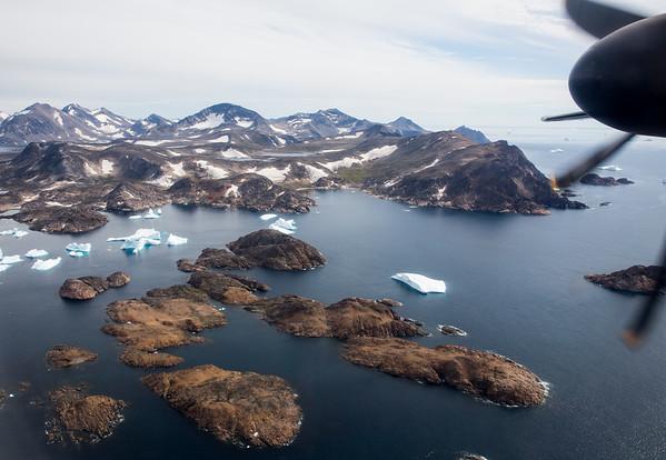 Grónsko Kulusuk přistání
