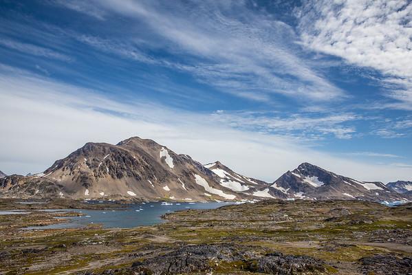 Grónsko krajina moře ledovce hory