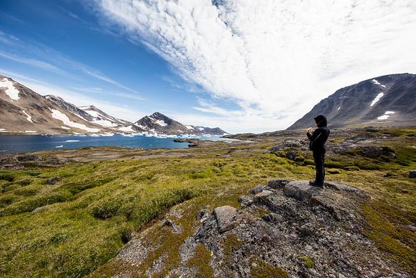 Grónsko TImi Jarošová krajina moře ledovce