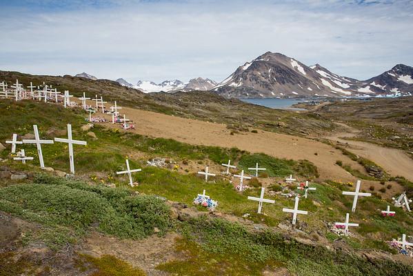 Grónsko hřbitov Eskymáků Inuité