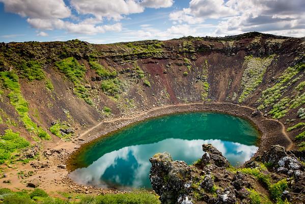 Kerið Kerith Kerid Crater lake