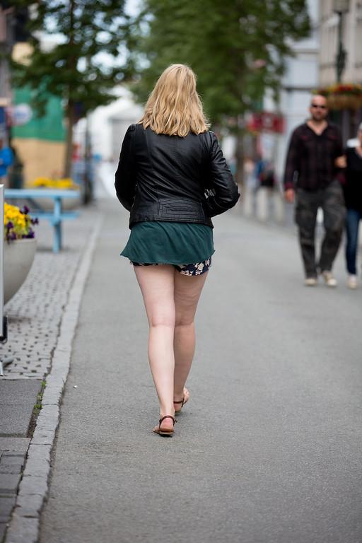 Reykjavik girl street