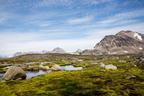 Grónsko zeleň krajina