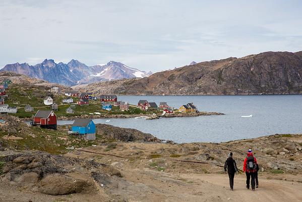 Grónsku inuitská vesnice Kulusuk