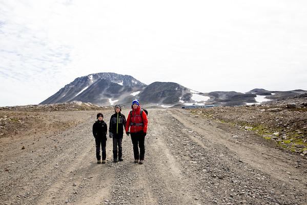 Kulusuk Grónsko cesta z letiště