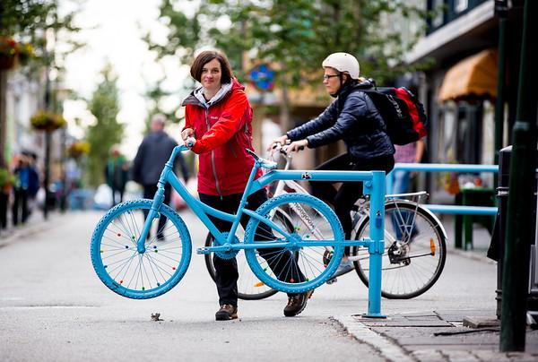 Island Reykjavík kolo bicycle Beata Jarosova