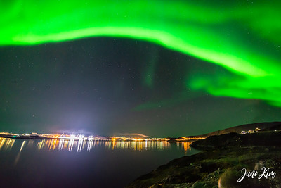 Northern Lights over the city of Nuuk