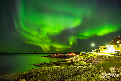 Northern Lights over the Old Harbor