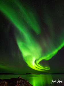Northern Lights from Qinngorput side of Nuuk