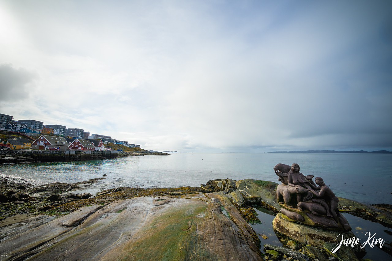 The Mother of the Sea statue and Nuuk