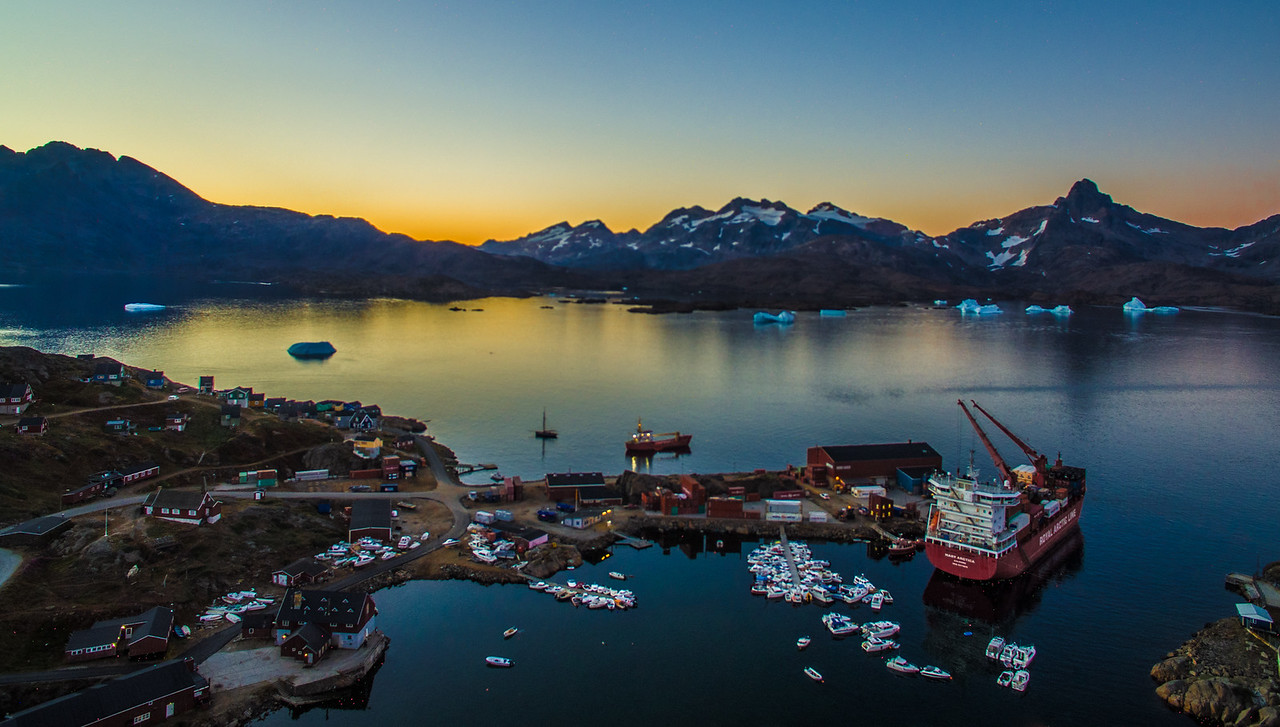 Kulusuk, Greenland  Harbor - Shot with The DJI Phantom 3 Pro