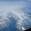 Ice and glaciers meet the Atlantic Ocean (20,000ft)
