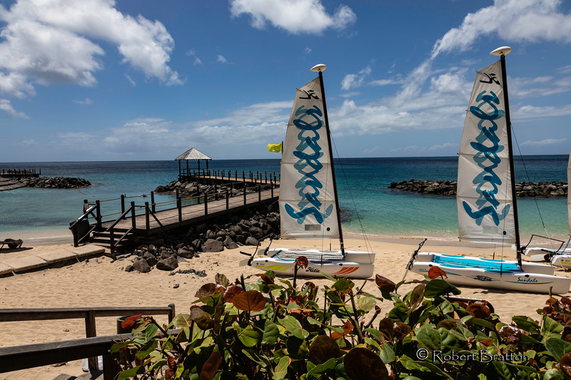 Hobie Sailboats at Sandals Resort