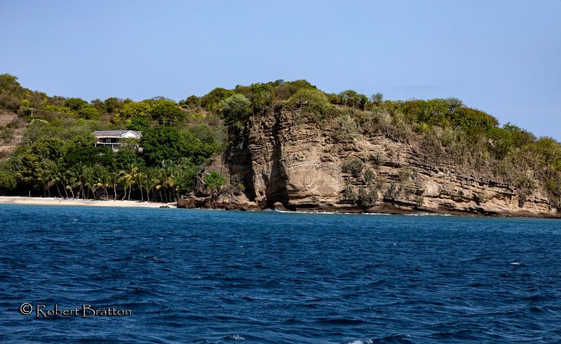 Cliffs by Grand Anse Beach