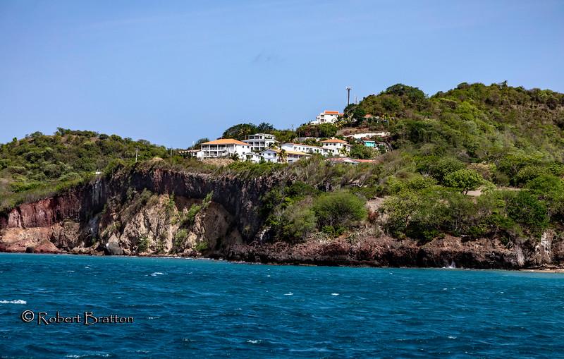 Houses above Ocean