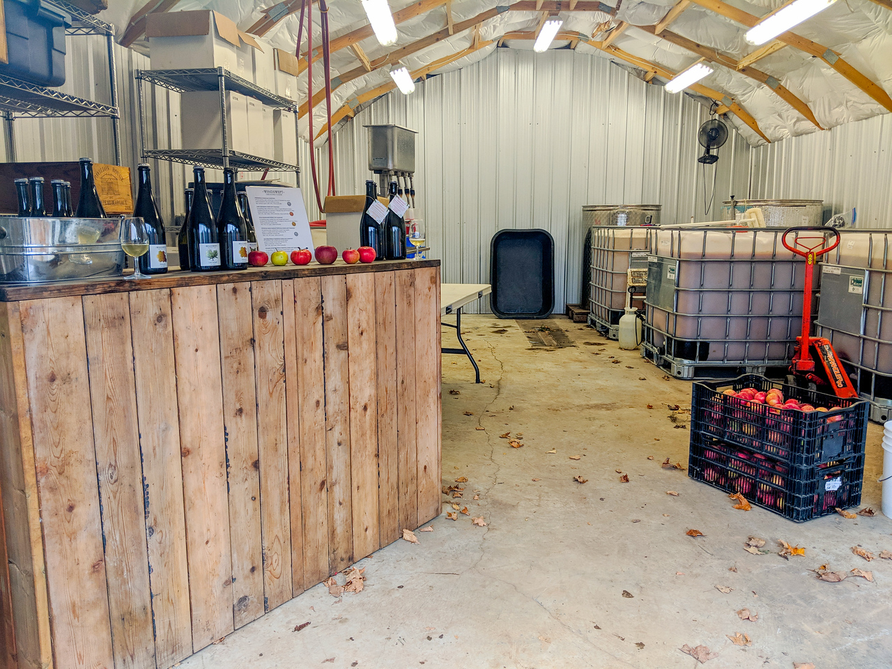 Windswept cider facility on the Grey County Saints and Sinners trail in Ontario.