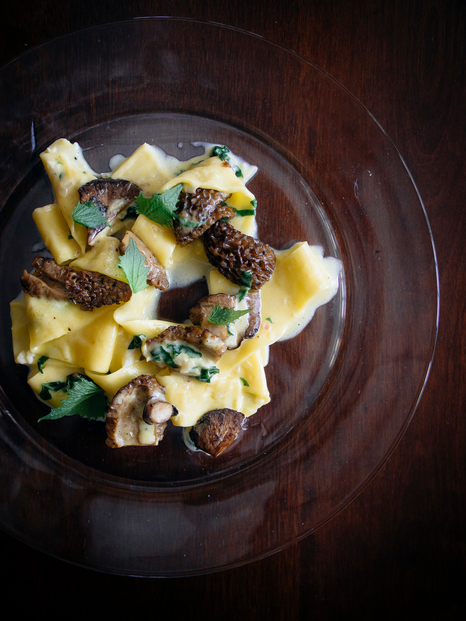Popular pasta dishes: This easy morel pasta uses foraged morel mushrooms.