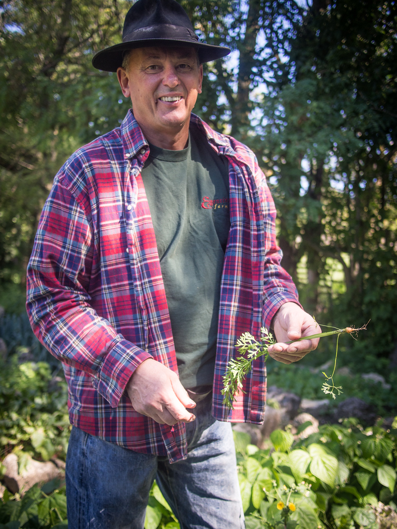 Chef Michael Stadtlander at Eigensinn Farms. Bruce Wine Bar, visit on an autumn color tour in Grey County.