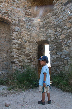 Jaden exploring the ruins.