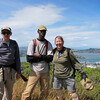 Richard, Moe & Joan atop Oakwood Valley Trail on Alta Trail