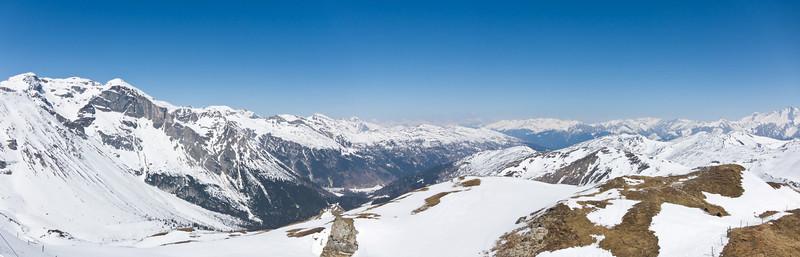 Panorama am Grubenkopfgipfel aufgenommen