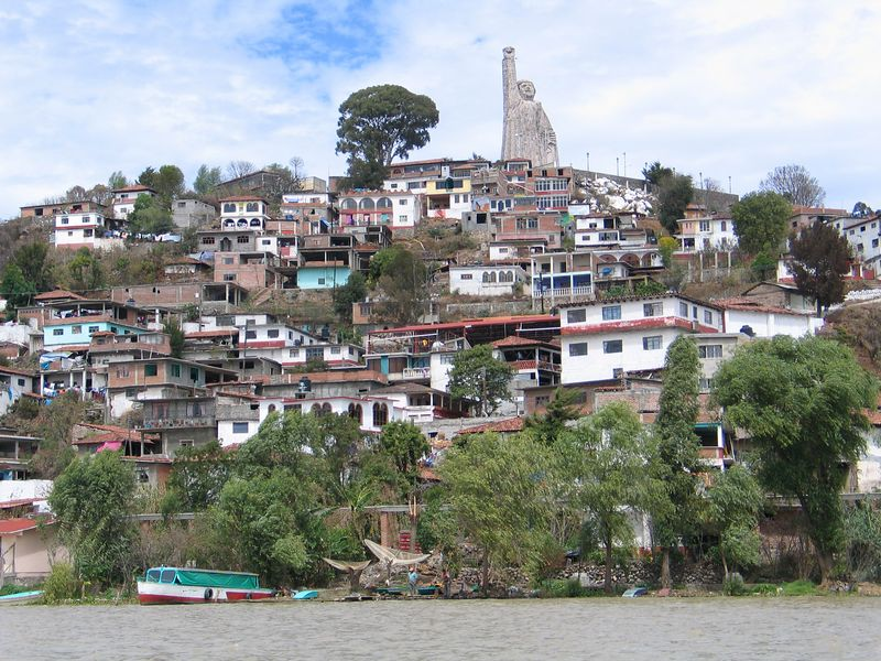 Isla Janitzio in lake Patzcuaro.