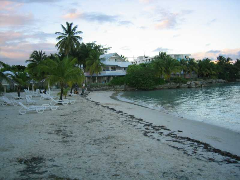 La Lagon is small public beach served by a restaurant of the same name.