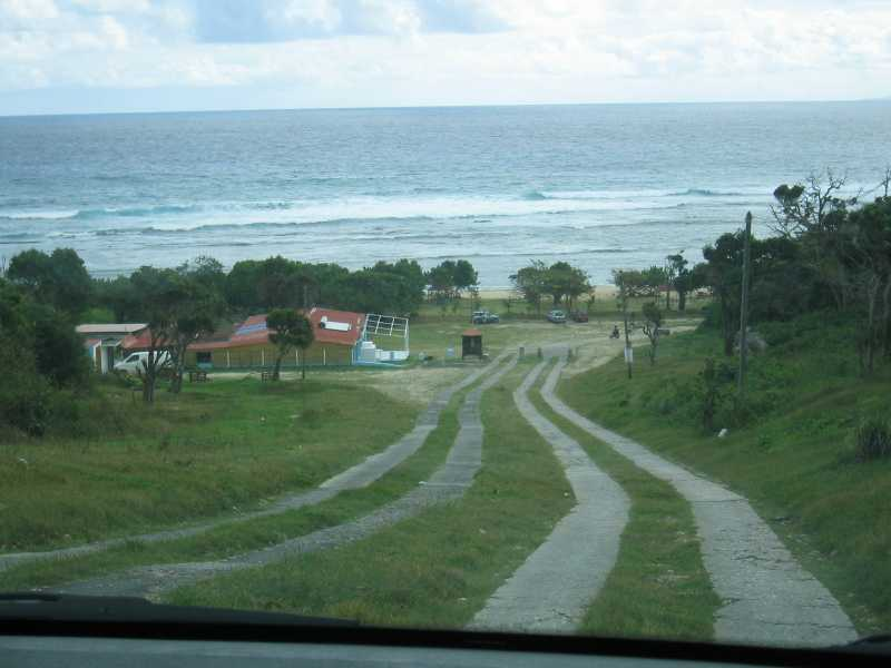 The drive down to Anse Maurice.