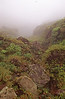 La Soufriere is through the mist