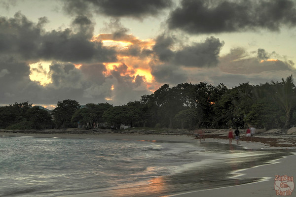 Sunset at Raisins clairs beach, Guadeloupe photo 4