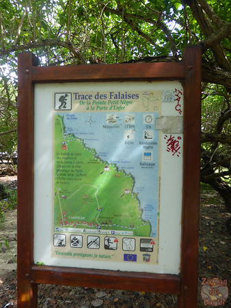 map hike porte Enfer guadeloupe