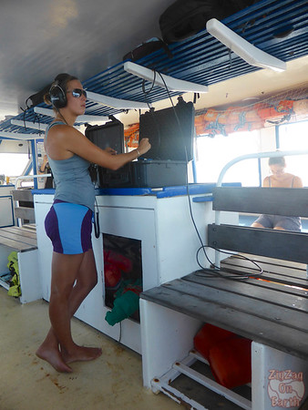 Listening for whales in the ocean, Guadeloupe noise