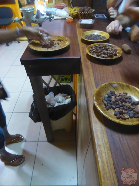 Chocolate tasting Maison du cacao, Guadeloupe