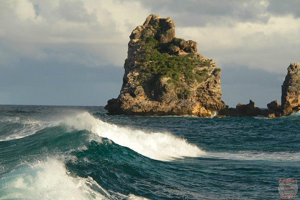 Waves at Castles Headland Guadeloupe, Pointe des chateaux photo 2