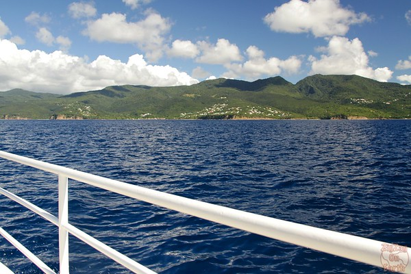 Basse Terre Coastline from boat