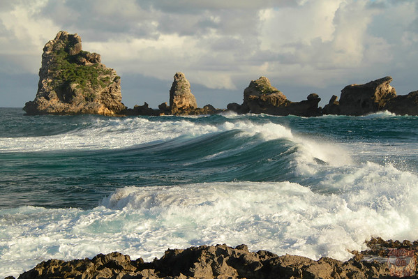 Waves at Castles Headland Guadeloupe, Pointe des chateaux photo 1