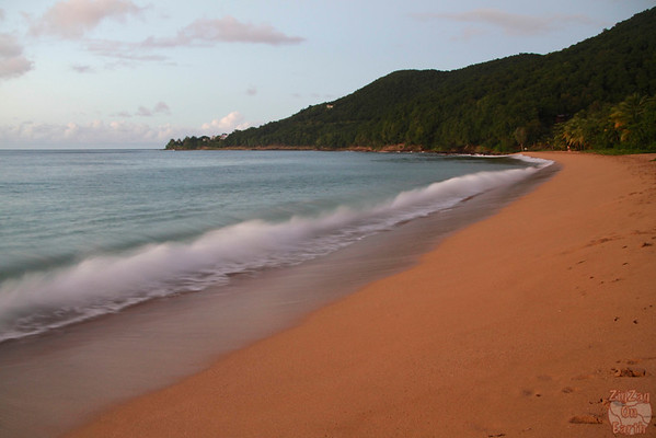 Grande Anse beach guadeloupe:  gold red sand