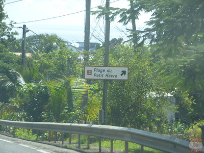 road sign to Petit Havre Beach, Guadeloupe
